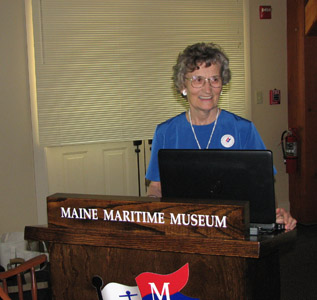 Mary speaks at maritime museum